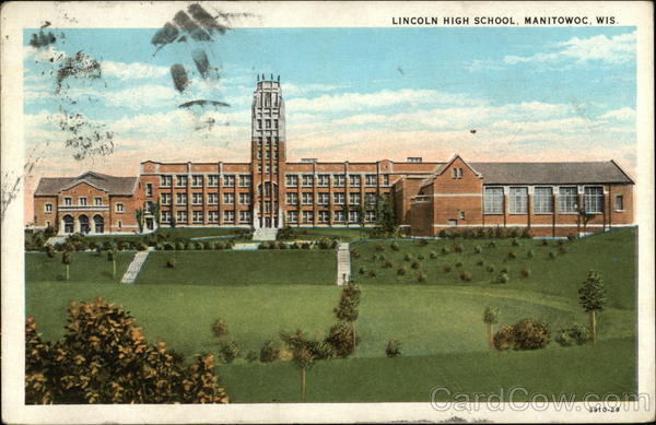 Lincoln High School And Grounds Manitowoc Wi