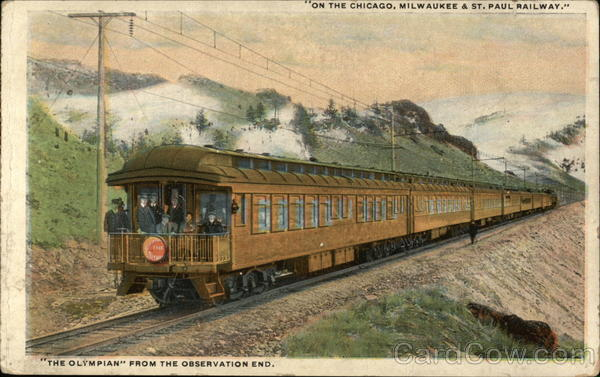The Olympian from the observation end Railroad (Scenic)
