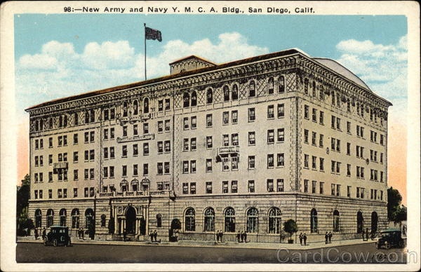 New Army and Navy YMCA Building San Diego California
