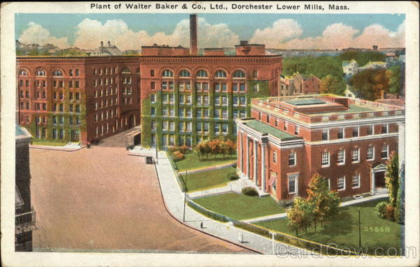 Plant of Walter Baker & Company, Limited Dorchester Lower Mills Massachusetts