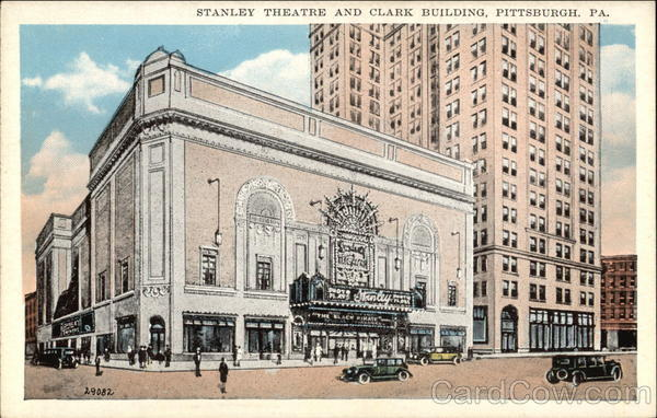 Street View of the Stanley Theater and Clark Building Pittsburgh Pennsylvania