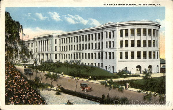 Bird's Eye View of Schenley High School Pittsburgh Pennsylvania