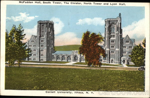 Cornell University: McFadden Hall, South Tower, The Cloister, North Tower & Lyon Hall Ithaca New York