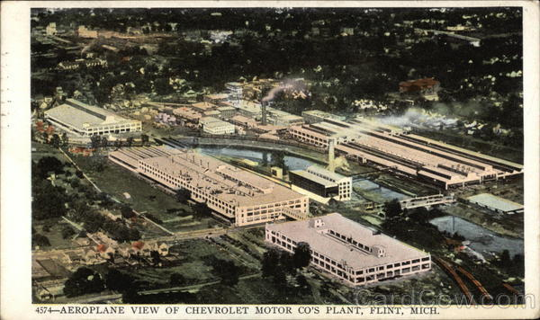 Aeroplane View of chevrolet Motor Company's Plant Flint Michigan