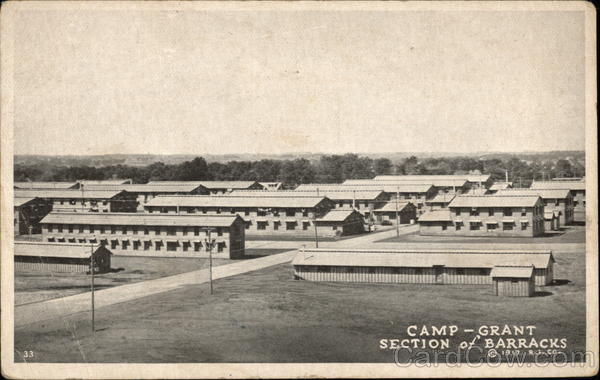 Camp Grant - Section of Barracks Military