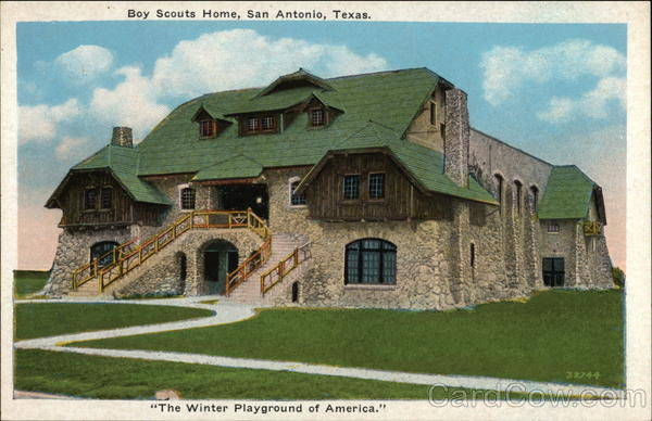 Boy Scouts Home in The Winter Playground of America San Antonio Texas