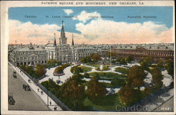Jackson Square and Monument New Orleans Louisiana