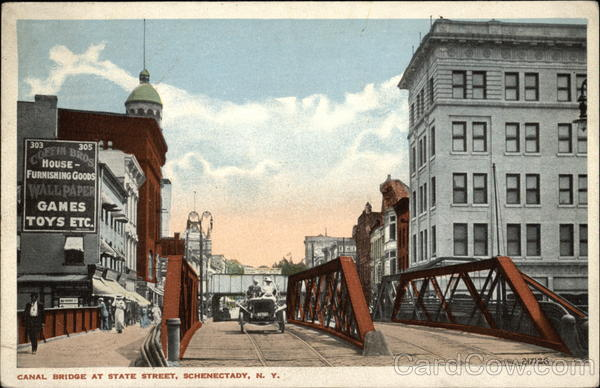 View of Canal Bridge at State Street Schenectady New York