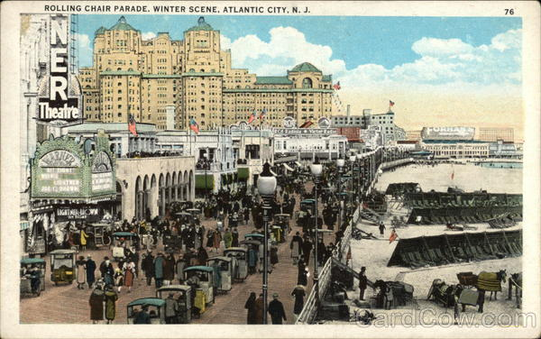 Rolling Chair Parade, Winter Scene Atlantic City New Jersey