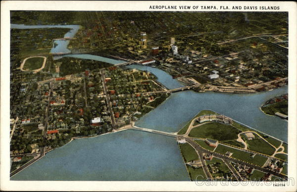 Aerial View of Tampa and Davis Islands Florida