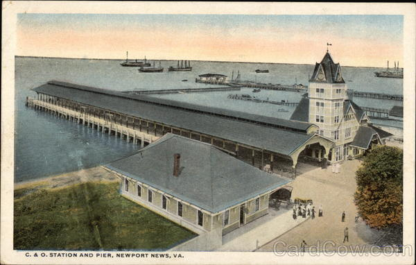 Bird's Eye View of the C & O Station and Pier Newport News Virginia