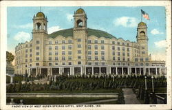 Front View of West Baden Springs Hotel