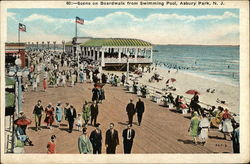 Scene on Boardwalk from Swimming Pool