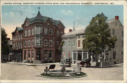 Center Square, showing Farmers State Bank & Progressive Pharmacy