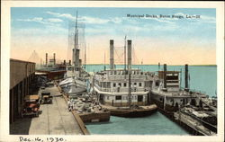 View of Municipal Docks and Boats