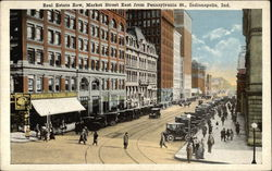 Real Estate Row, Market Street East from Pennsylvania Street Postcard
