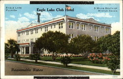 Eagle Lake Club Hotel - 3 Miles South of Winter Haven - Reasonable Rates