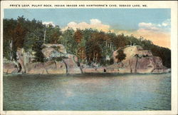 Frye's Leap, Pulpit Rock, Indian Images and Hawthorne's Cave Postcard