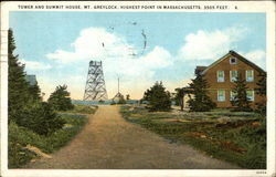 Tower and Summit House, Mt. Greylock