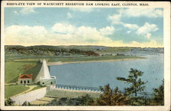 Bird's Eye View of Wachusett Reservoir Dam Looking East