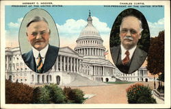 Herbert C. Hoover & Charles Curtis; pictures in front of Capitol Building