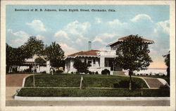 Residence of HB Johnson, South Eighth Street Postcard