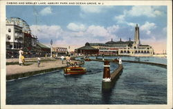 Casino and Wesley Lake at Asbury Park
