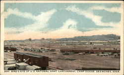 Bird's Eye View of US National Army Cantonment, Camp Dodge