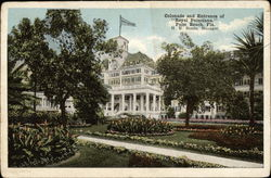 Royal Poinciana - Colonade and Entrance Postcard