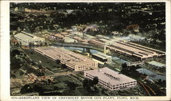 Aeroplane View of chevrolet Motor Company's Plant