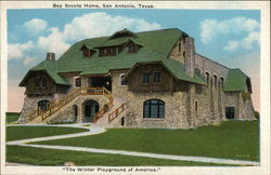 "Boy Scouts Home in ""The Winter Playground of America"""