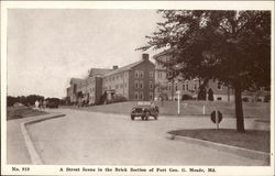 Street Scene in Brick Section of Fort Geo. G. Meade