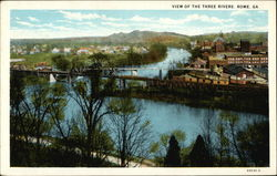 View of the Three Rivers Postcard