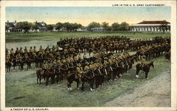 Life in the US Army Cantonment - A Troop of US Cavalry