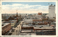 Bird's Eye View, showing Franklin Street