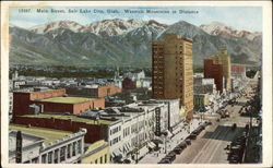 Main Street, Wasatch Mountains in Distance