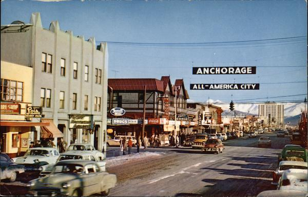 All American City - Fourth Avenue Anchorage Alaska