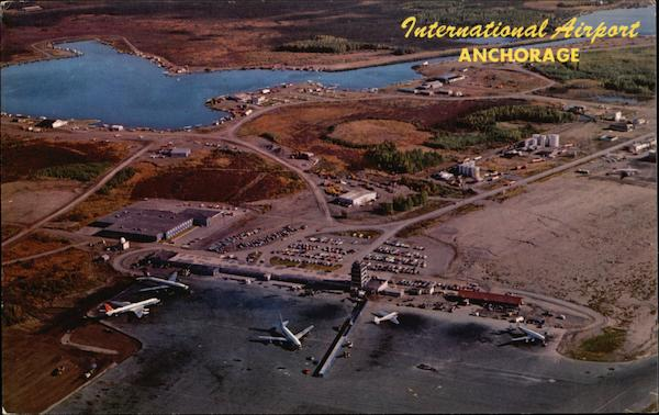 Aerial View of International Airport Anchorage Alaska