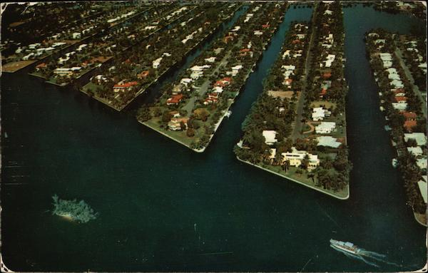 Aerial View of Town Fort Lauderdale Florida