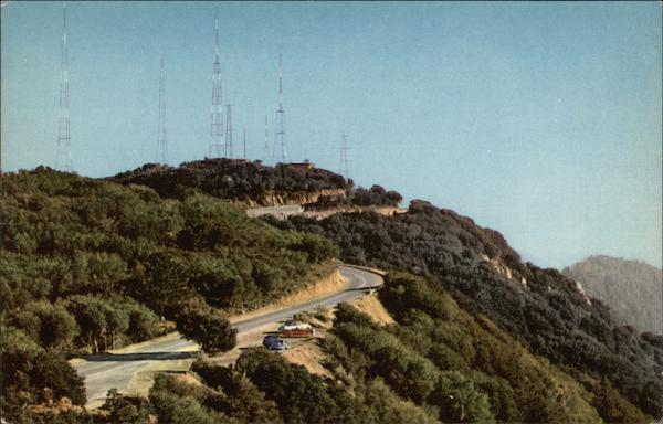 Television Transmitters on Mt. Wilson Los Angeles California
