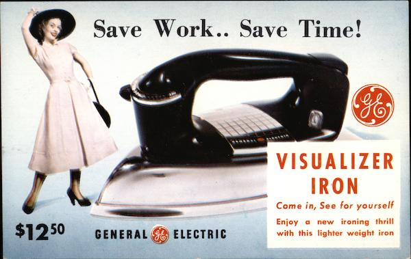 General Electric Visualizer Iron Advertising