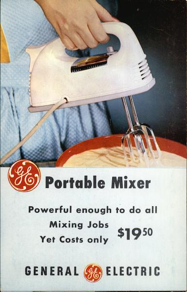 GE Portable Mixer Advertising