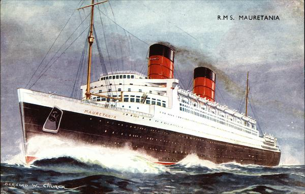 RMS Mauretania on the Water Boats, Ships