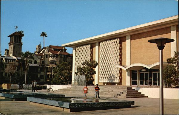 Riverside Public Library with the World Famous Mission Inn in the Background California