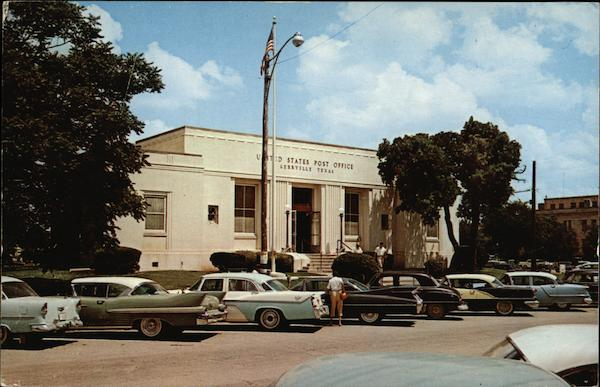 Cars Parked in Front of Post Office in Kerrville Texas