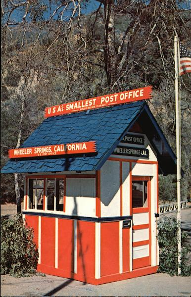United States Smallest Post Office Wheeler Springs California