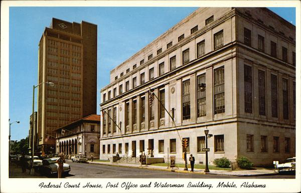 Federal court house post office and waterman building for Building a house in alabama