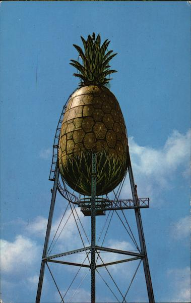 Dole; Giant Pineapple water tank Honolulu Hawaii