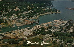 Aerial View of Mystic Town
