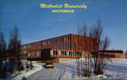 Gould Hall at Methodist University in Winter